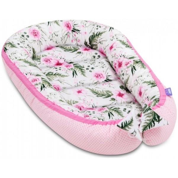 Jukki Baby Nest Cocoon - Φωλιά Για Βρέφη 2πλης όψης - In Garden Pink