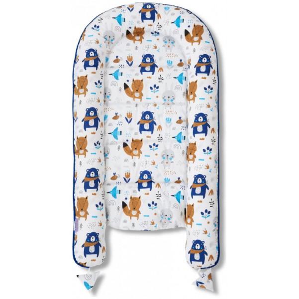 Jukki Baby Nest Cocoon - Φωλιά Για Βρέφη 2πλης όψης - Happy friends Blue