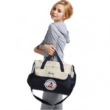 Τσάντα  αλλαξιέρα μωρού μπλε-μπεζ