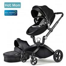 Καρότσι  μωρού 2 σε 1 Hot Mom μαύρο-άσπρο