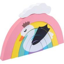 Ξύλινο ουράνιο τόξο για παιδιά 18+ μηνών