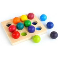 Ξύλινο παιχνίδι με χρωματιστές μπάλες για παιδιά 3+ ετών