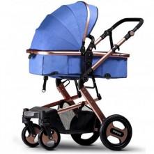 Καροτσάκι μωρού γαλάζιο 2 σε 1 Weilebao
