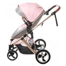 Καρότσι μωρού 2 σε 1 Viper ροζ-γκρι