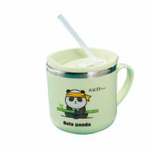Ποτήρι πράσινο 270 ml με καλαμάκι για παιδιά 6+ μηνών