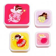 Σετ 4 δοχεία φαγητού A little lovely company - Lunch & Snack Box Fairy