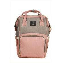 Τσάντα πλάτης μωρού QINDU ροζ-γκρι