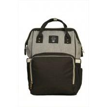 Τσάντα πλάτης μωρού QINDU μαύρο-γκρι