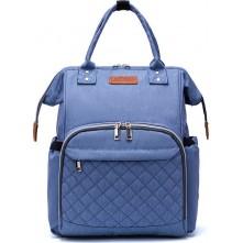 Τσάντα πλάτης μωρού LEQUEEN γαλάζιο καπιτονέ