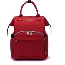 Τσάντα πλάτης μωρού LEQUEEN κόκκινη καπιτονέ