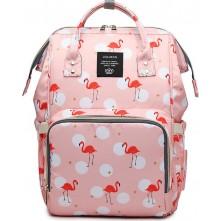Τσάντα πλάτης μωρού LEQUEEN ροζ με φλαμίνγκο
