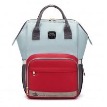 Τσάντα μωρού πλάτης LEQUEEN μέντα- κόκκινο -γκρι