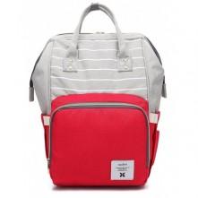 Τσάντα πλάτης μωρού γκρι-κόκκινο
