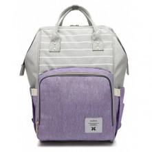Τσάντα πλάτης μωρού γκρι-μωβ