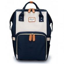 Baby's Τσάντα μωρού πλάτης  μπλε-μπεζ