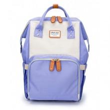 Τσάντα αλλαξιέρα μωρού  Doko club μωβ-μπεζ