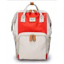 Baby's Τσάντα πλάτης μωρού  μπεζ-κόκκινο