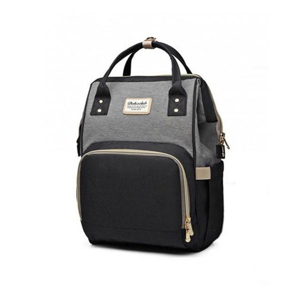 Τσάντα πλάτης μωρού μαύρο-γκρι