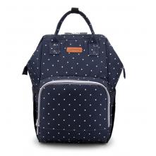 Τσάντα μωρού πλάτης Ankommling  με usb μπλε-πουά