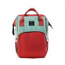 Τσάντα πλάτης μωρού MLZ κόκκινο-μέντα