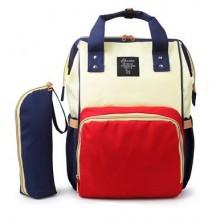 Τσάντα πλάτης μωρού  Eposha κόκκινη μπλέ μπέζ