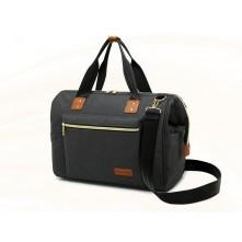 Τσάντα μωρού  ώμου Mogupig μαύρη
