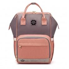 Τσάντα μωρού πλάτης LEQUEEN ροζ-γκρι